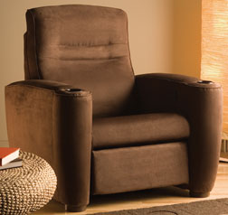 Custom Home Theater Chair Brown