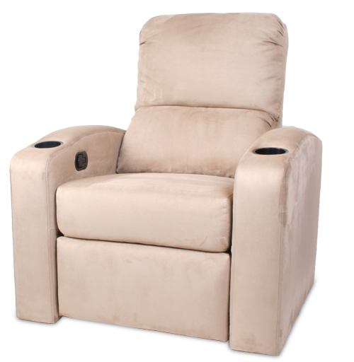 Custom Home Theater Chair Beige