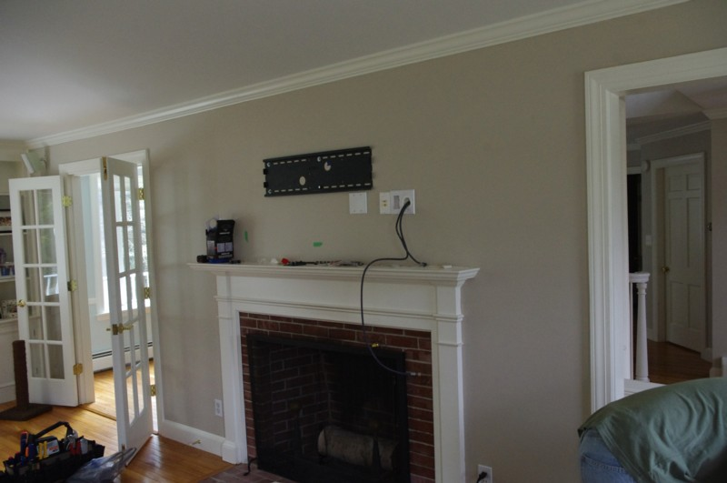 Tv Mount shown for TV Mounted over fireplace