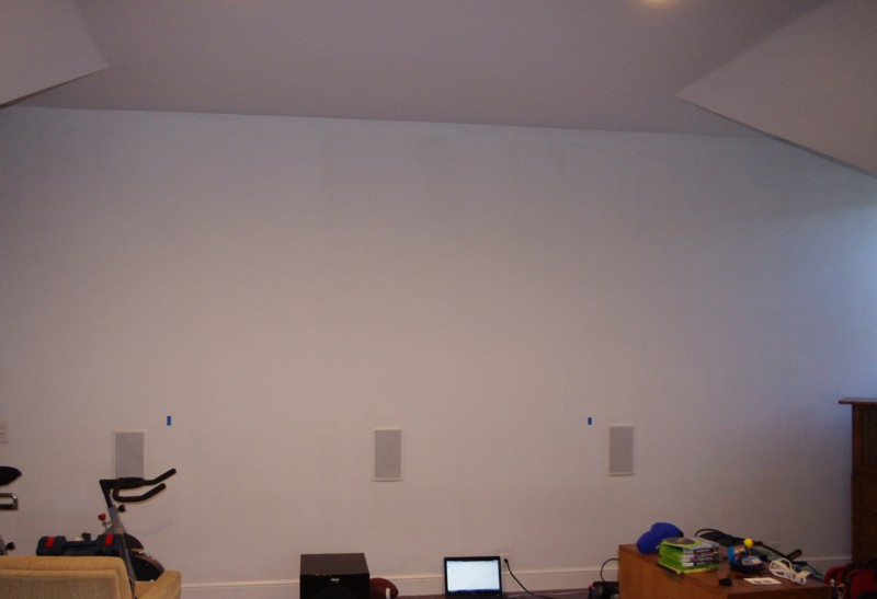 Before Custom Home Theater Install